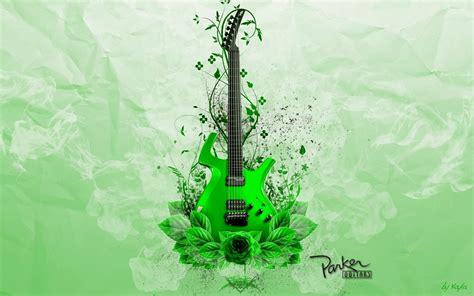 wallpaper green guitar green guitar music download desktop wallpaper beautiful