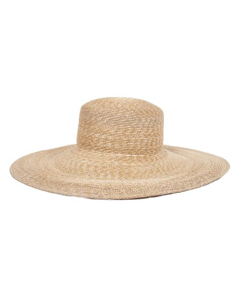 clyde straw hats clyde wide brim flat top straw hat with white