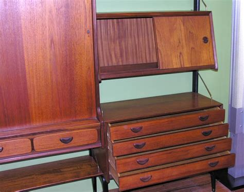 wall unit with drop desk at 1stdibs