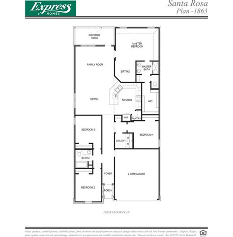 express homes floor plans   plan  rancho verde