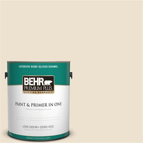 behr premium plus ultra 1 gal icc 40 antique ivory eggshell enamel interior paint 275001 the