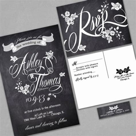 wedding invitations sale chalkboard wedding invitation custom typography and roses black and white sle black