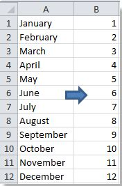 how to convert month name to number in excel?