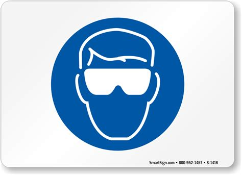 safety glasses symbol sign sku s 1416 mysafetysign