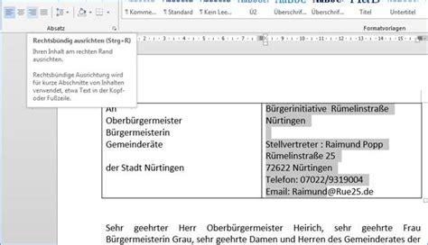 Anschrift Brief Schweiz Herr Und Frau Im Word Brief Die Anschrift Und Den Absender In Zwei Bl 246 Cken Ausrichten Programmierer Office 365