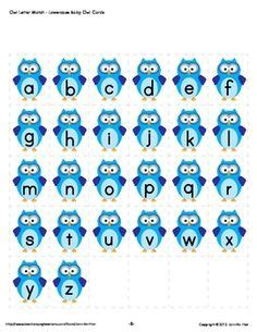 printable alphabet owl the educators spin on it printable owl themed name games