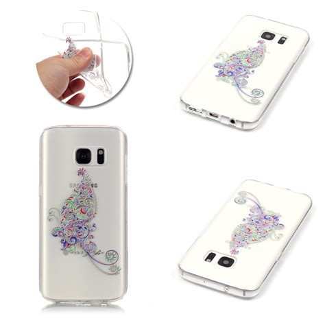 slim flower patterned silicone soft tpu back cover for samsung s8 plus s7