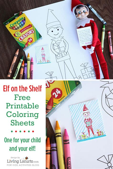 christmas free elf on a shelf printables super busy mum elf on the shelf sized coloring sheets and kid sized