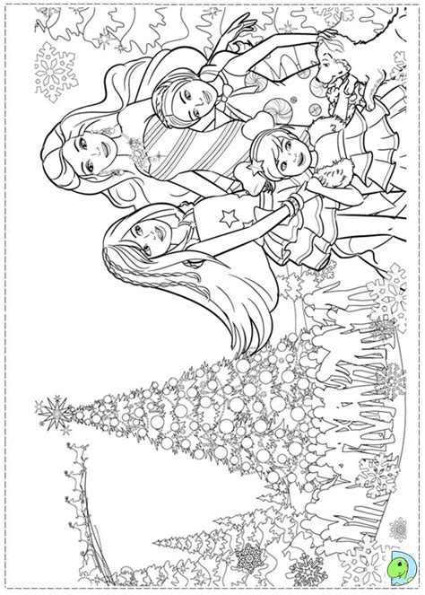 barbie in a perfect christmas coloring page dinokids org
