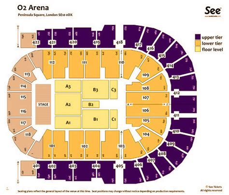 the o2 floor plan o2 arena seating plan detailed seat numbers