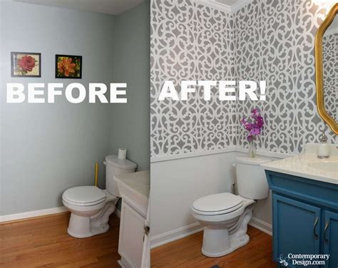 bathroom stencil ideas small half bathroom decorating ideas