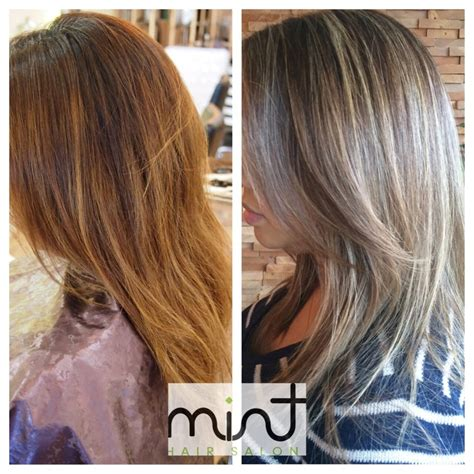 full highlights and half highlights before after ash blonde half head highlights yelp