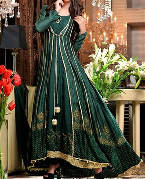www simple frocks in tail front open double shirt style frock gown designs 2016