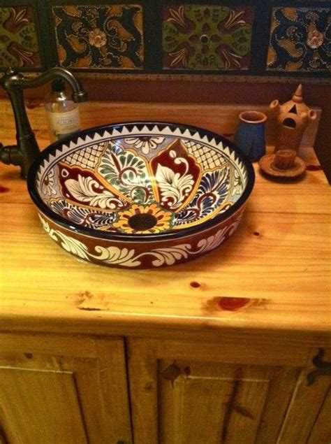 mexican bathroom sinks mexican tile sink decorating with talavera tiles