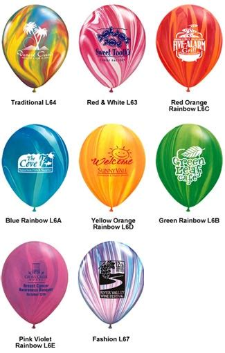 what color is helium helium balloons and other promotional products