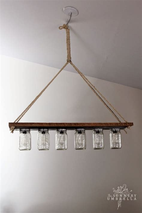 Edison Chandelier Diy Decor Diy Inspiration Jar Chandelier With Edison Bulbs Made From A Style
