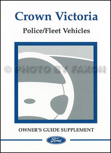 automotive repair manual 2004 ford crown victoria security system 2004 ford crown victoria police fleet vehicles owner s manual supplement original