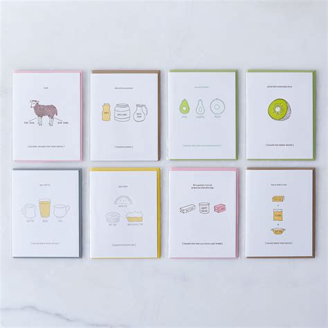 Food 4 Less E Gift Card - food inspired thank you cards pack of 8 on food52