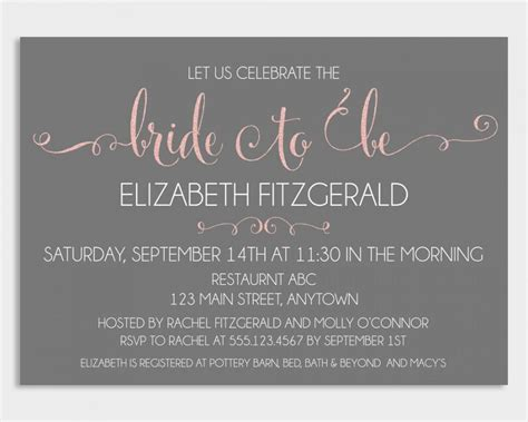 Bridal Shower Invitation Template Bridal Shower Bridal Shower Invitation Template Free 2