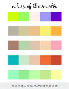 colors of the month of light design