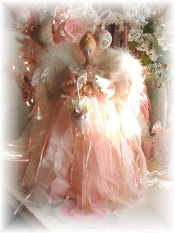 misfit rosey angel tree topper shabby cottage decoration