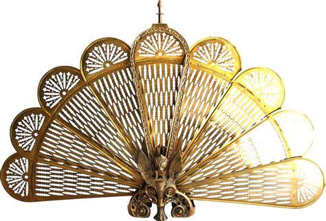 brass peacock screen shabby chic