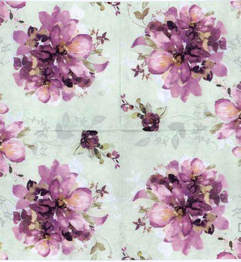 purple decoupage paper decoupage paper napkins of purple roses in watercolor