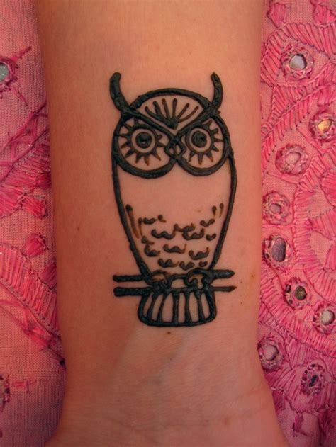 owl henna tattoo owl henna simple owl and owl