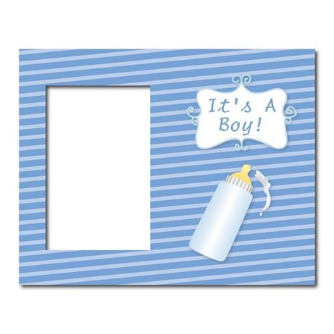 Oblong Baby Victory Boy Size 3 Tahun it s a boy baby bottle decorative picture frame holds