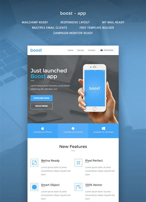 boost app promotional email template buy premium boost