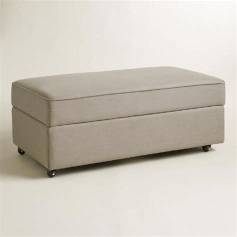 world market storage ottoman pebble gray chad storage ottoman world market