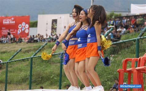 epl nepal 2017 cheerleaders in everest premier league wicketnepal