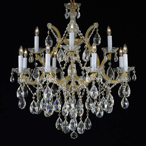 Overstock Chandeliers Theresa 13 Light 2 Tier Antique Gold Chandelier Contemporary