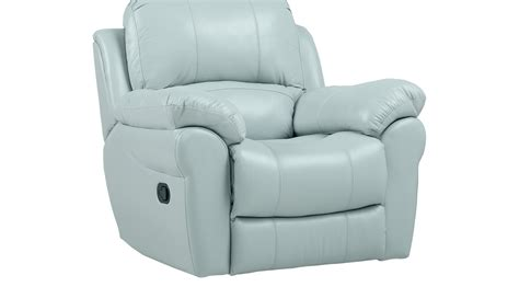 light blue leather recliner 649 99 vercelli aqua light blue leather rocker