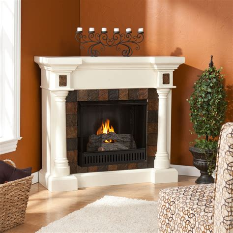 White Gel Fireplace by 44 5 Quot Martin Weatherford Convertible Gel Fireplace