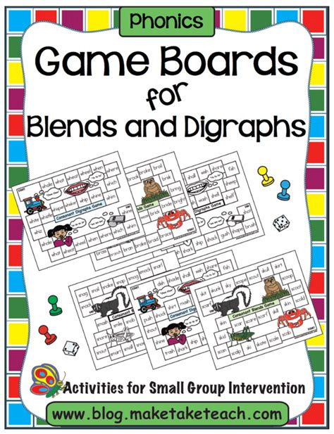 printable games for digraphs consonant blends games for first grade consonant blends