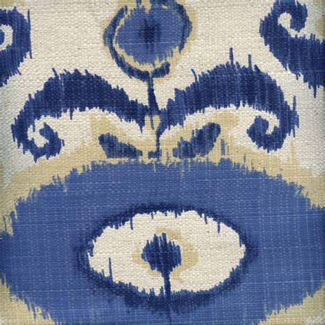 Ikat Drapery Fabric egeo indigo blue ikat cotton drapery fabric