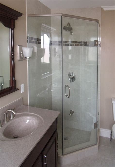 Custom Neo Angle Shower Door With Header System Modern Custom Neo Angle Shower Doors