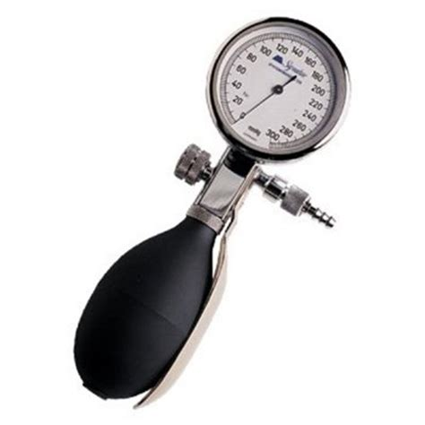 palm aneroid blood pressure gauge with bulb