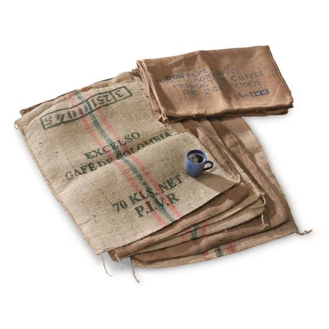 coffee burlap bags 8 pack used 681167