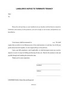 Notice Of Lease Termination by Landlord S Notice To Terminate Tenancy Hashdoc