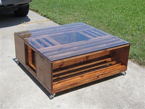 Diy Wine Fruit Wood Crate Coffee Table Free Plan Glass Top Diy Wine Crate Coffee Table