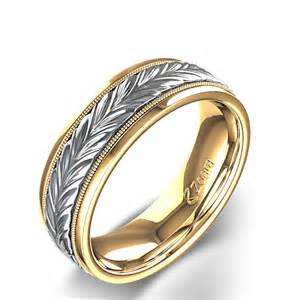 mens wedding rings braided s wedding ring in two tone gold