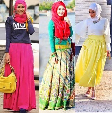 Rok Lipit Skirt By Haviza Busana dyah s style cara hijabers padu padan rok
