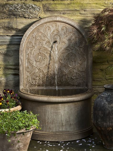 Corsini Fountain Make Your Garden Enchanting With A Fountain Garden Wall Features