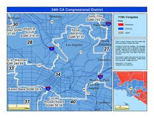 35th congressional district map california 34th congressional district xavier becerra d