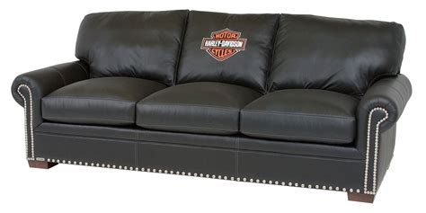 harley sofa harley davidson officially licensed black leather