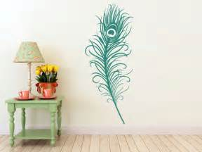 Peacock Feather Wall Sticker Large Peacock Feather Vinyl Decal Wall Art Sticker By