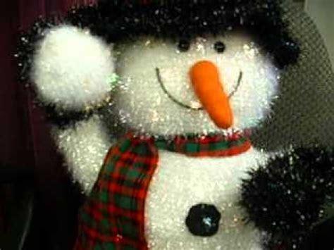 kirklands holiday lights snowman youtube