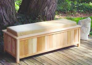 patio furniture storage large cedar storage bench with cushion top 2054